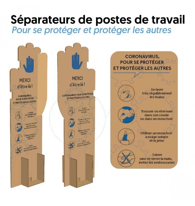 Lot De 350 Séparateurs De Postes De Travail P8654 - SEPARATEUR
