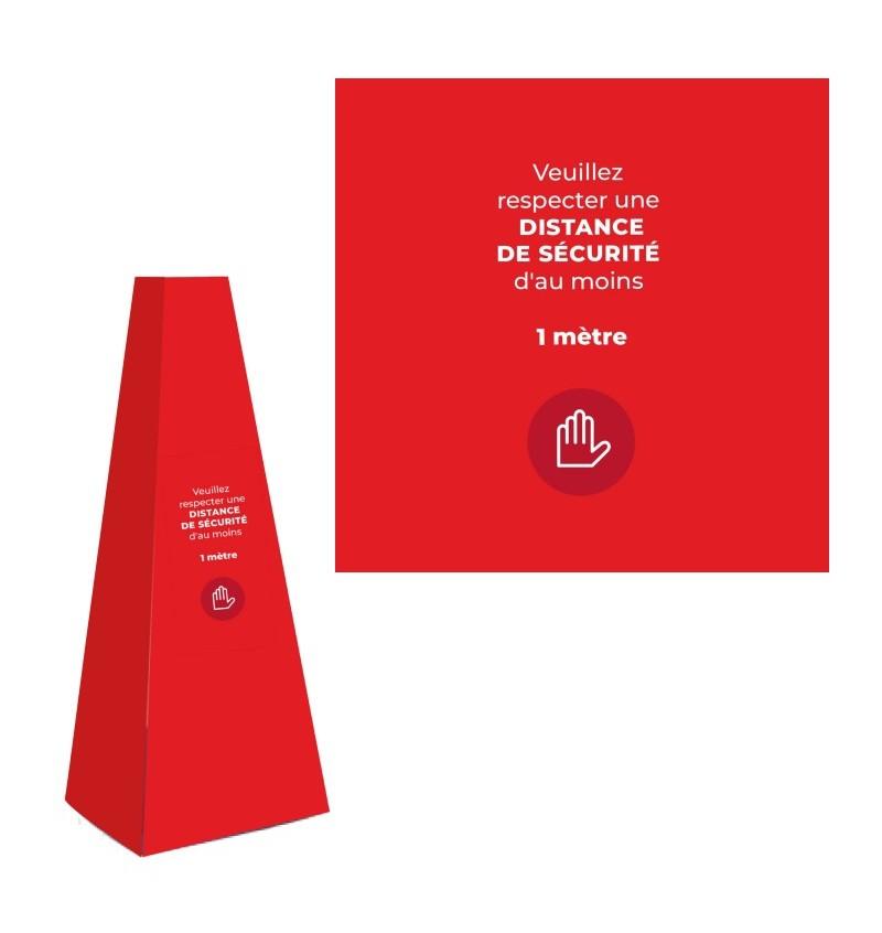 Cône Préventif Pour File D'attente, Distance De Sécurité P8663 - Cône Distance De Sécurité