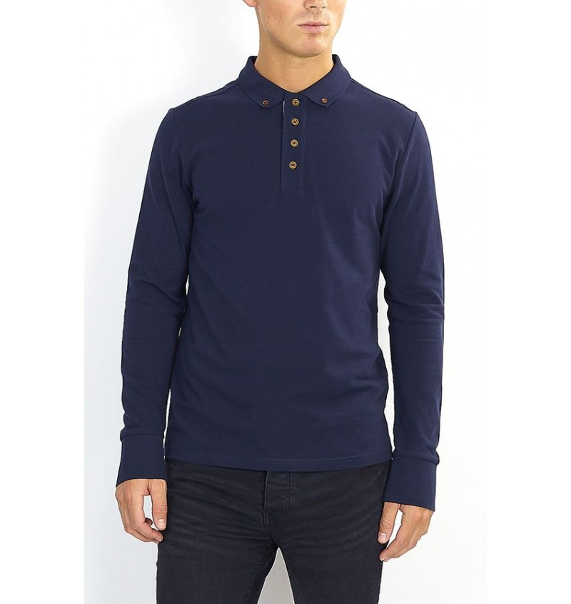 Polo manches Longue BS1MLT-69LINCOLNJ - BRAVE SOUL