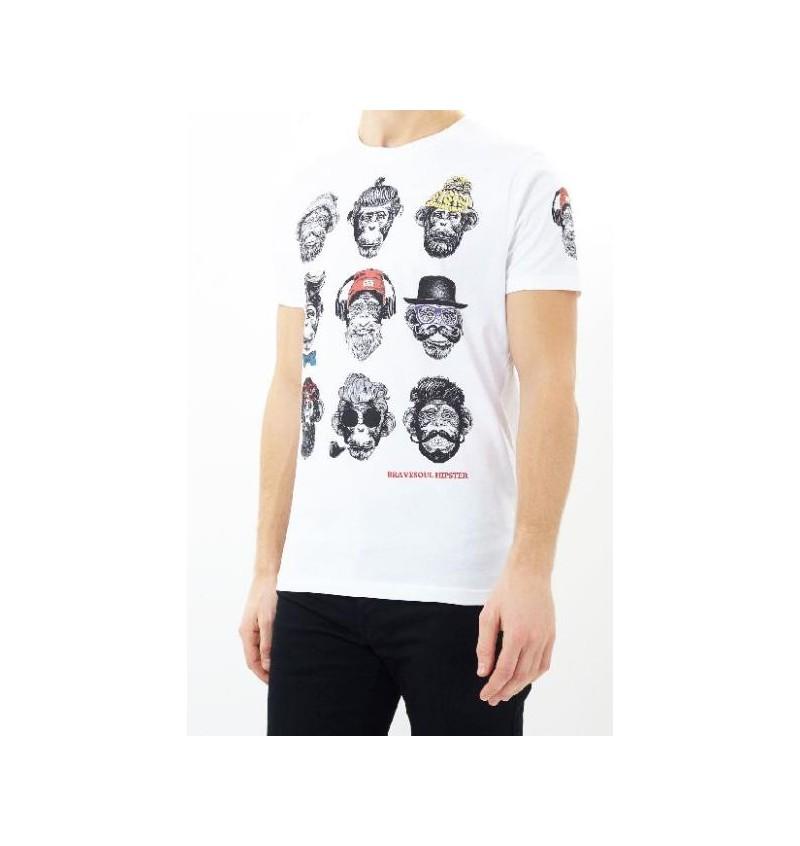 Tee-shirt Chimpanzé MTS-69LIBERALA - BRAVE SOUL