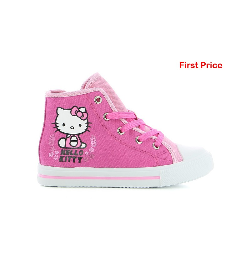 Basket Montante Enfant Fushia Hello Kitty HL1 HK002073 - HELLO KITTY B2124