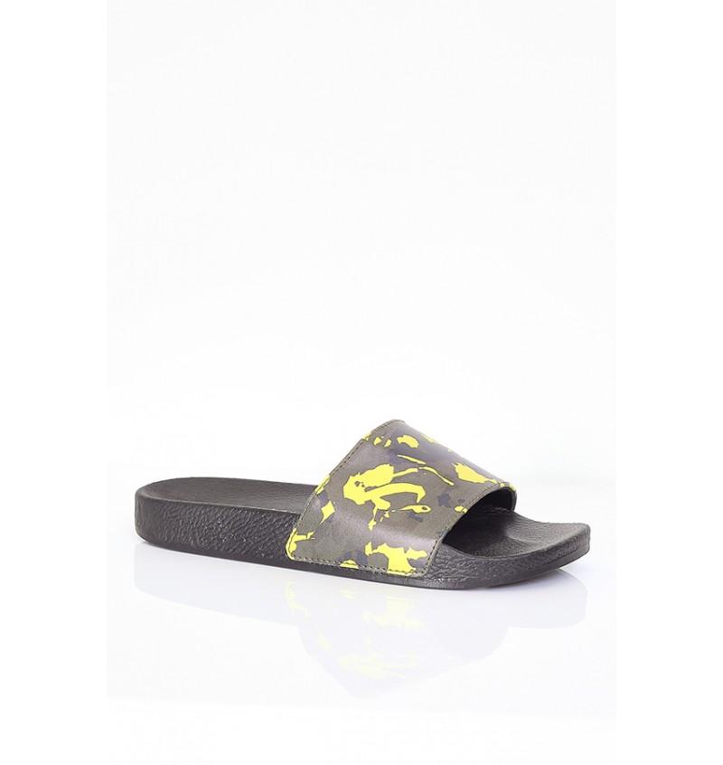 Sandale Imprimé Camouflage Jaune Effet Cuir MFW-FINLEY - BRAVE SOUL