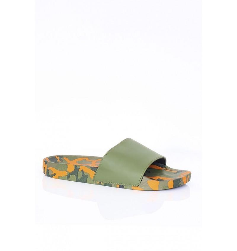 Sandale Imprimé Camouflage Orange Effet Cuir MFW-FINN - BRAVE SOUL