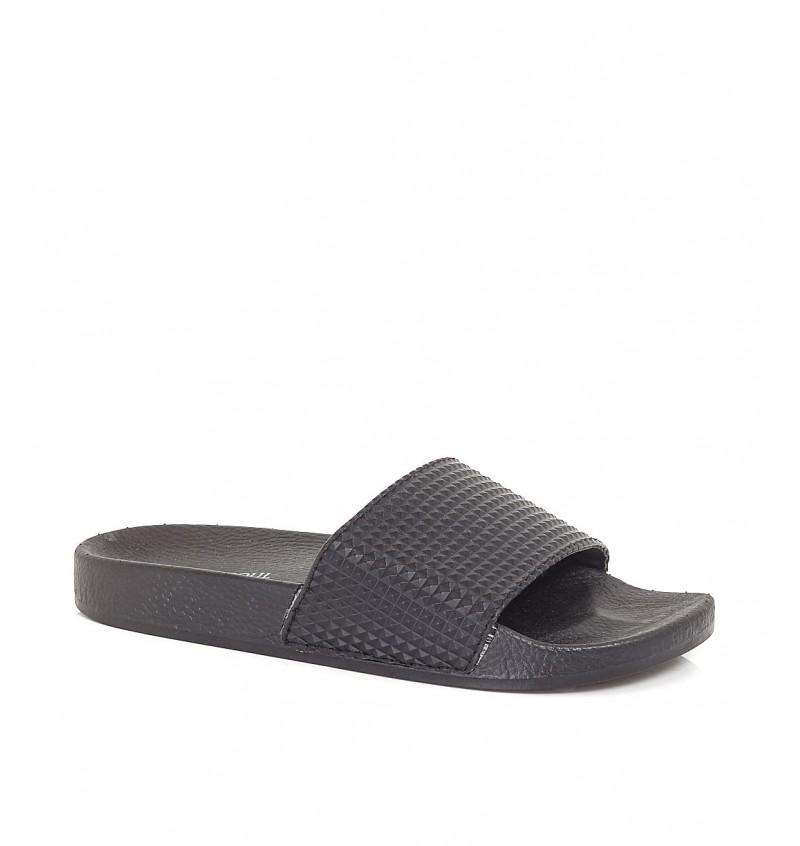 Sandale Noir Motif Relief Effet Cuir MFW-RUTHINB - BRAVE SOUL