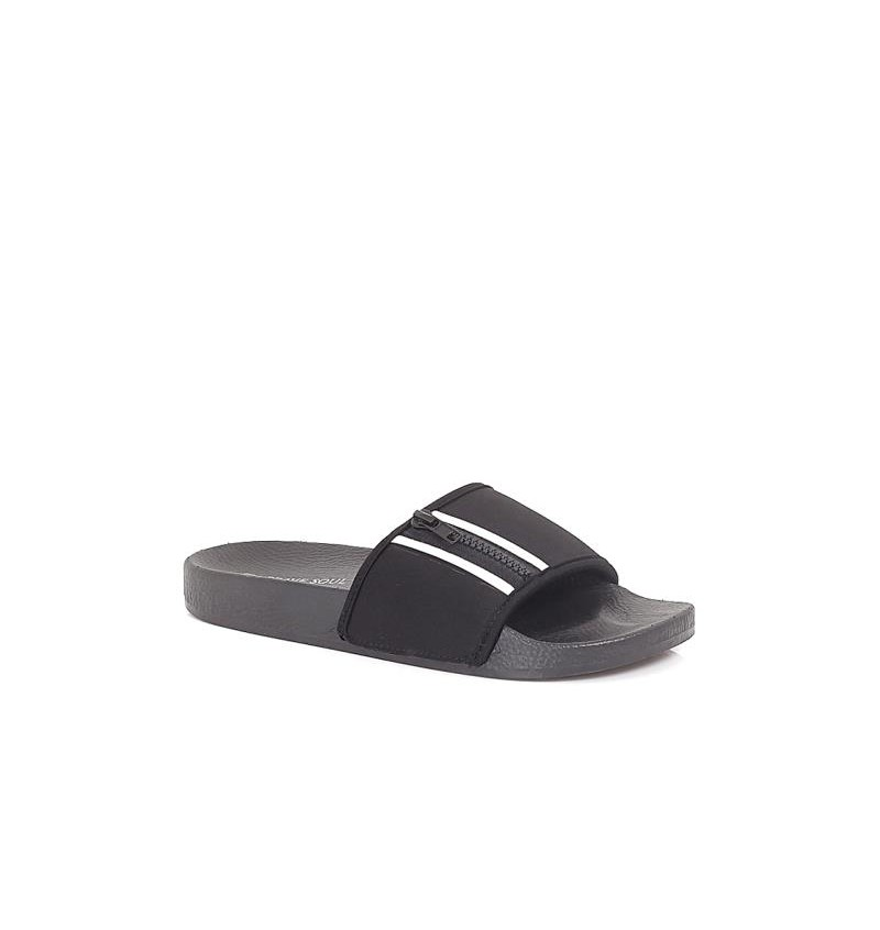Sandale Noir En Néoprène MFW-TROPICS - BRAVE SOUL