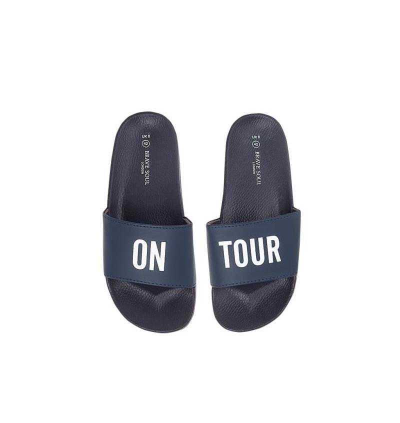 Sandale Marine Imprimé ON TOUR Effet Cuir MFW-ONTOUR - BRAVE SOUL