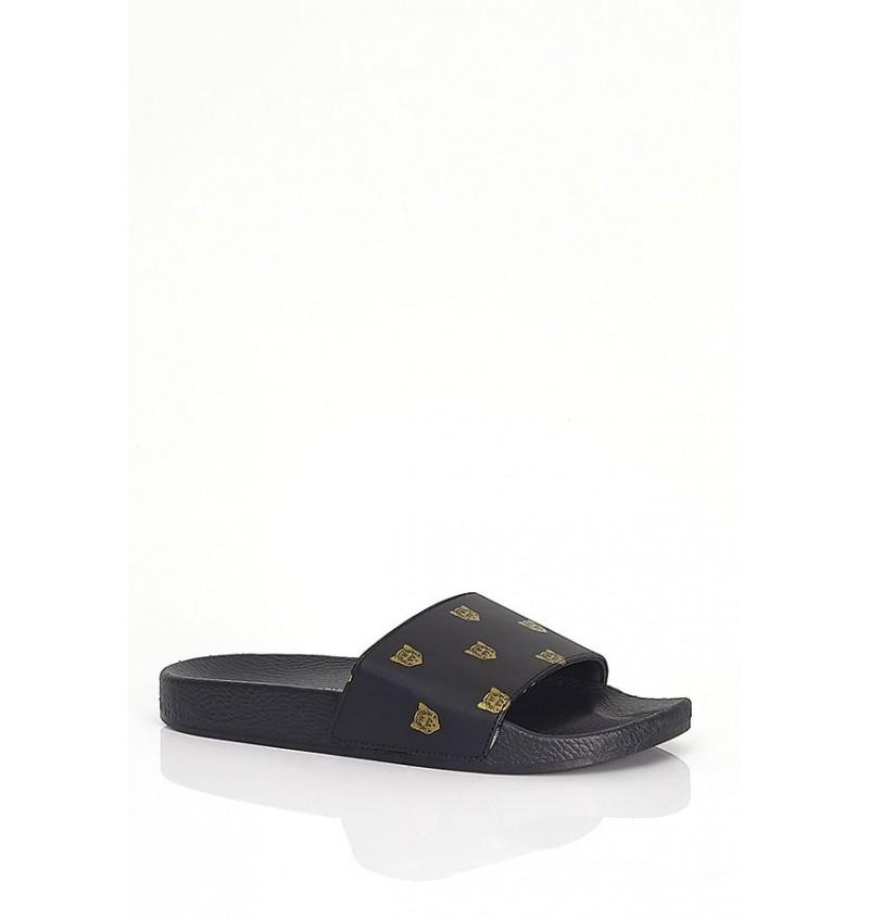 Sandale Imprimé Tête Léopard Effet Cuir MFW-ZANZIBAR - BRAVE SOUL