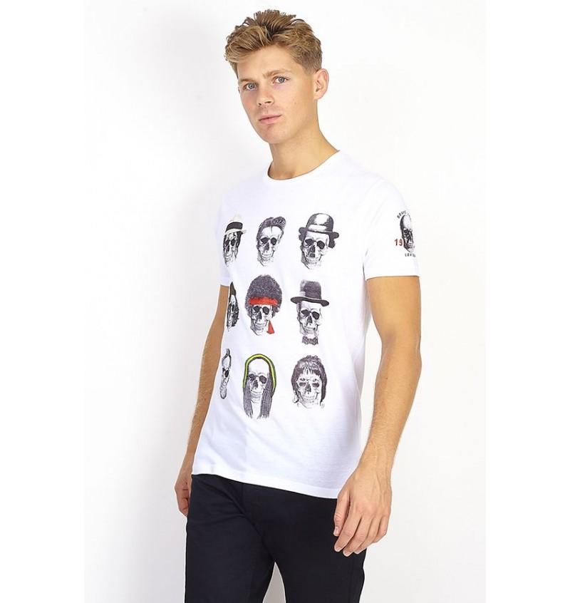 Tee-Shirt Imprimé Tête De Mort MTS-149FAMOUS - BRAVE SOUL