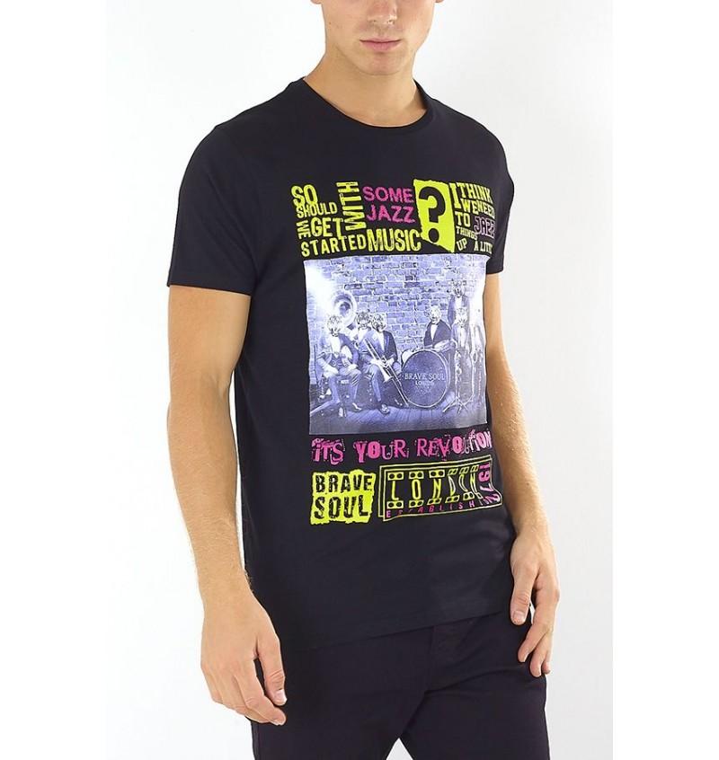 Tee-Shirt Imprimé Poster De Music MTS-149MILES - BRAVE SOUL