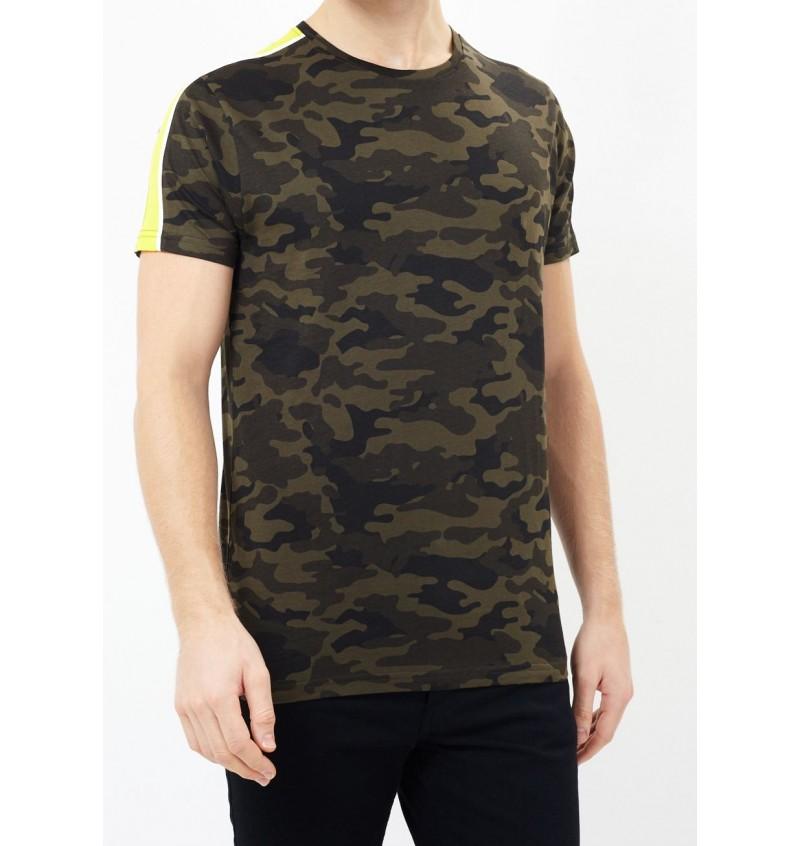 Tee-Shirt Imprimé Camouflage Bande Contrasté MTS-149RODEO - BRAVE SOUL