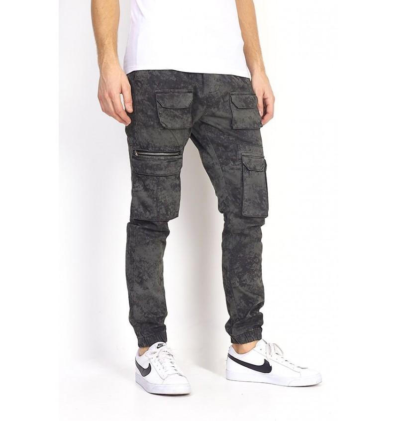 Pantalon Cargo Multi-Poches Effet Acid MTR-SHADOW - BRAVE SOUL