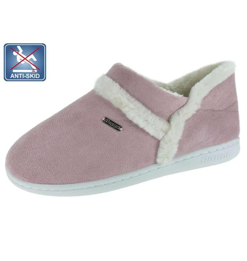 Chaussures D'intérieur Fourré Femme Rose BEP2 13B2181561 - BEPPI