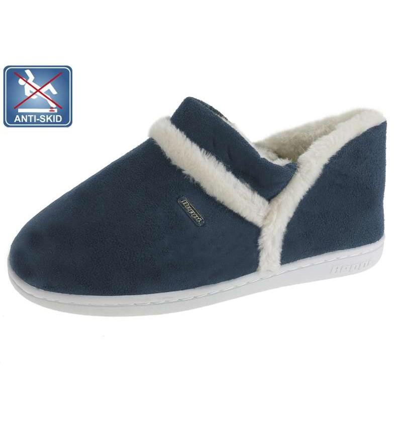 Chaussures D'intérieur Fourré Femme Marine BEP4 13B2181563 - BEPPI