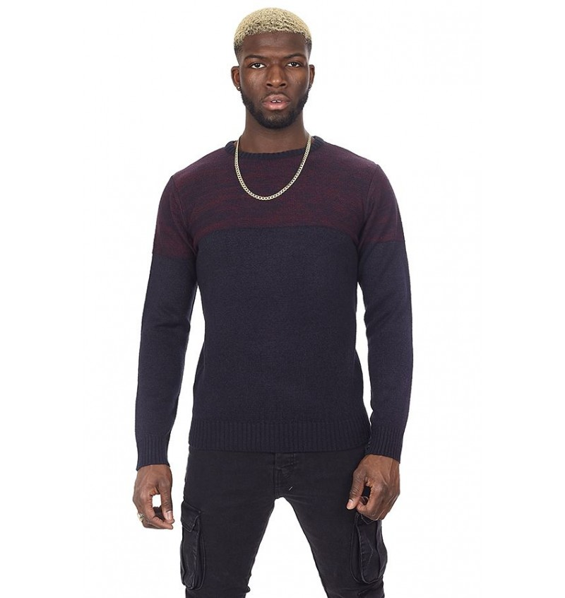 Pull Col Rond Maille Double Fil MK-230ROLANDE - BRAVE SOUL