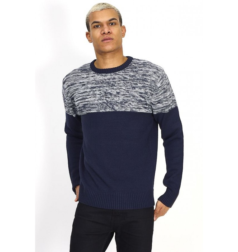 Pull Col Rond Maille Double Fil BS2 MK-230ROLANDE - BRAVE SOUL