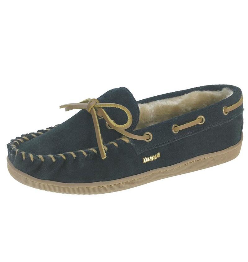 Chaussures D'intérieur Fourré Femme Marine BEP13 13B2165661 - BEPPI