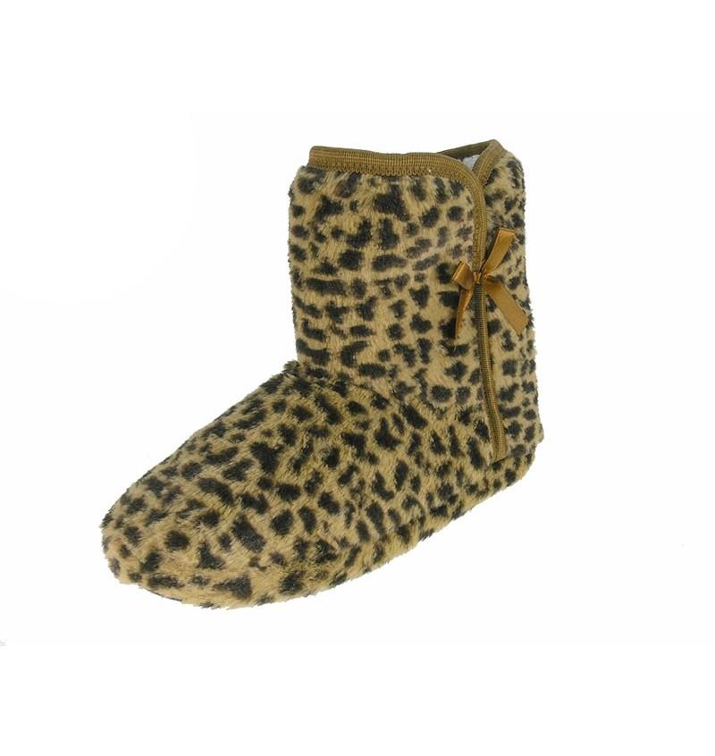 Chaussures D'intérieur Fourré Femme Léopard BEP14 13B2144120/21 - BEPPI