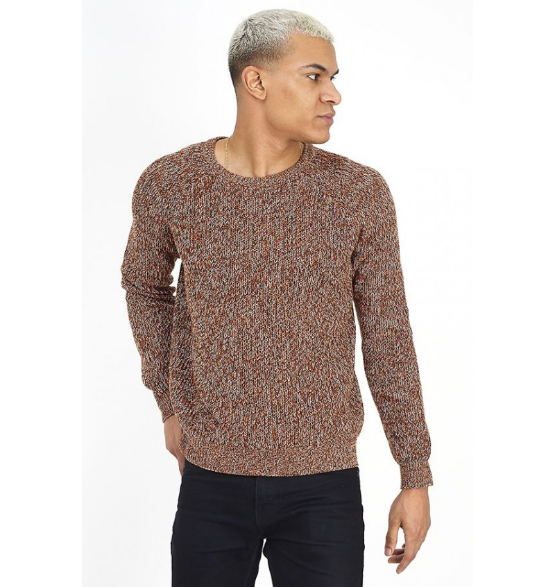 Pull Col Rond Twist Color MK-248WINTHORP - BRAVE SOUL