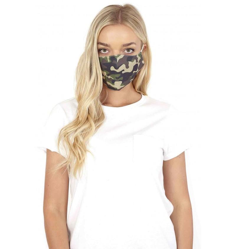 Masque Protection Homme/Femme Imprimé Camouflage LMSK-272CAMO - BRAVE SOUL