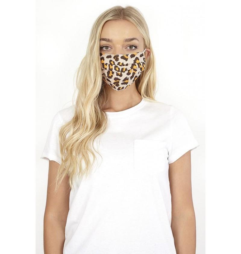 Masque Protection Femme Imprimé Léopard LMSK-272LEOPARD - BRAVE SOUL
