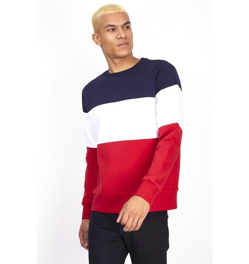 Sweat Tricolor Pour Homme MSS-69WHITEHALL - BRAVE SOUL