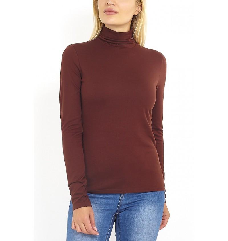 Tee-Shirt Pour Femme Col Roulé LLT-69AMALIPKB- BRAVE SOUL