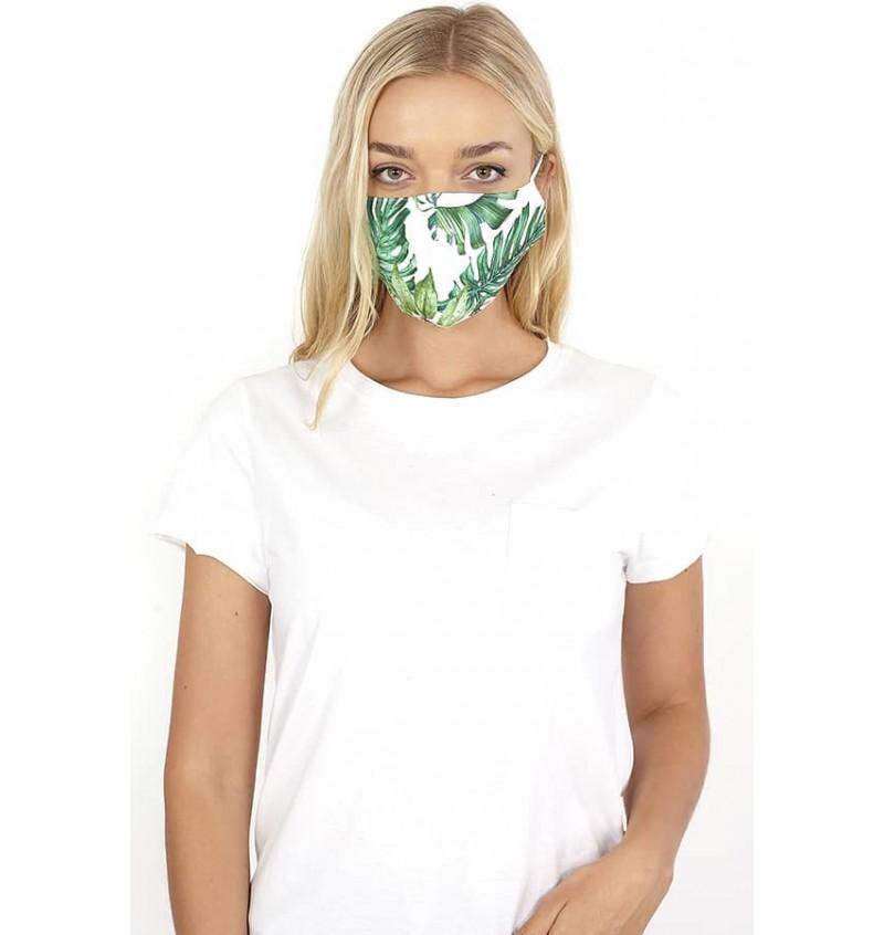 Masque Protection Femme Imprimé Tropical LMSK-272TROPIC - BRAVE SOUL