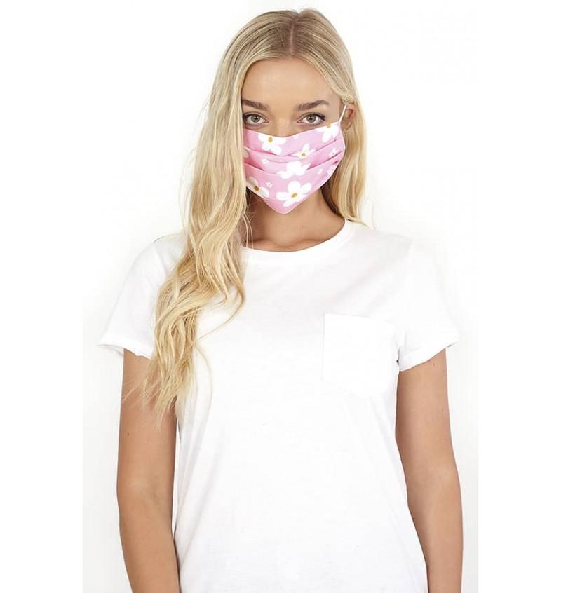 Masque Protection Femme Imprimé Fleurs LMSK-272FLOWER - BRAVE SOUL