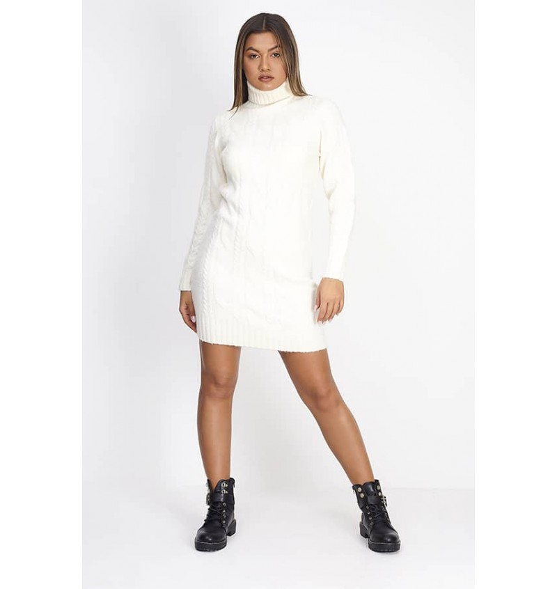 Robe Pull Torsadé Pour Femme A Col Roulé LKD-555STARKEY - BRAVE SOUL