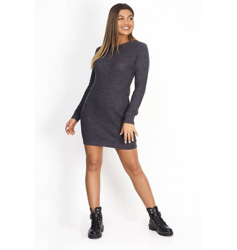 Robe Pull Pour Femme Col Ras Du Cou LKD-230TAMSIN - BRAVE SOUL
