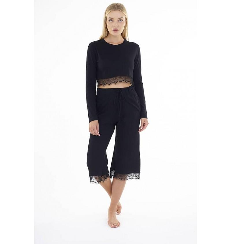 Ensemble Pyjama 2 Pièces Noir pour Femme LPJ-149CAMILLA - BRAVE SOUL
