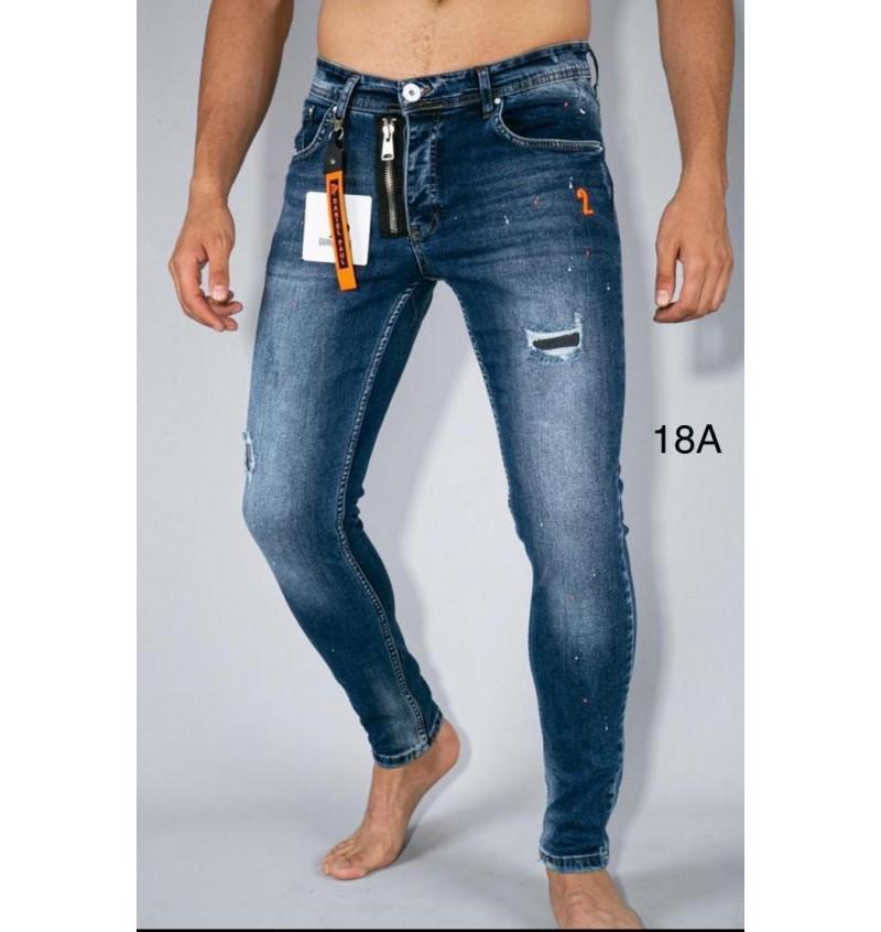 Jean Skinny Bleu LS1 03-18A  - B2BMENSFASHION