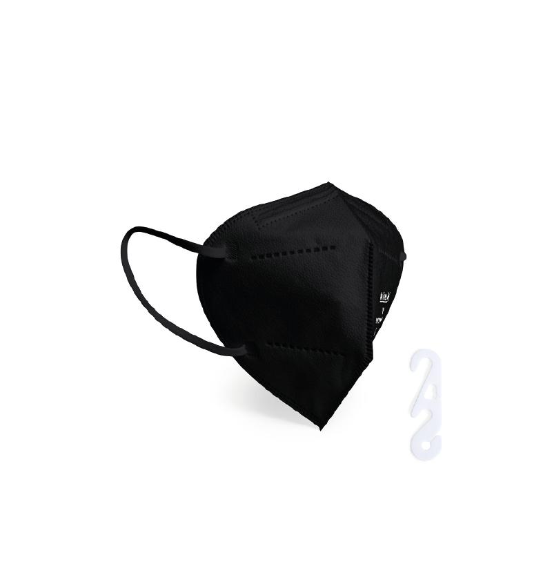 Masque De Protection FFP2/KN95/95 Noir Avec Ajusteur DRV-P9221 FFP2/KN95