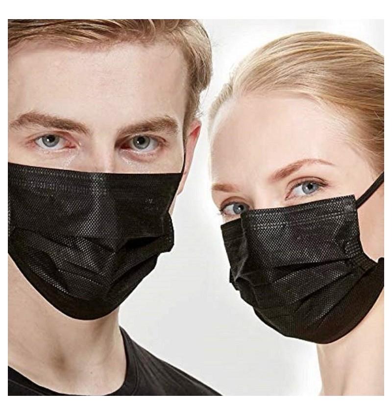 Masque Chirurgical Médical Type 2R Noir par 2000 DRV-P9134 Type 2R/2000