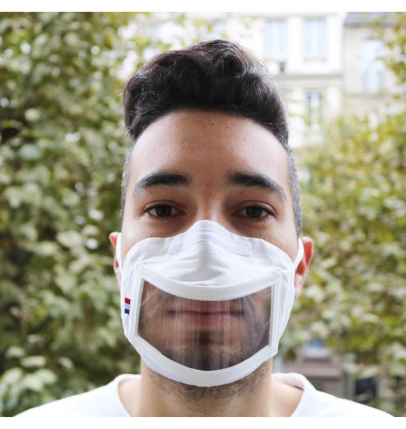 Masque transparent à fenêtre homologué UNS1 DRV-P9203 Masque Transparent