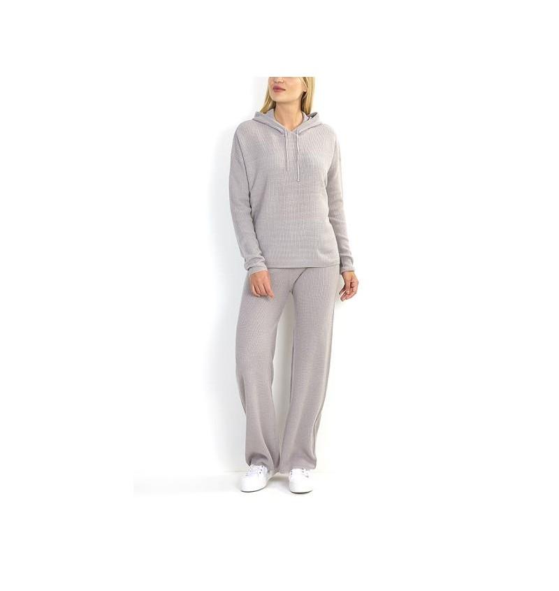 Ensemble Gris Pour Femme Tricoté Pull + Pantalon LSET-555HEIDIB - BRAVE SOUL