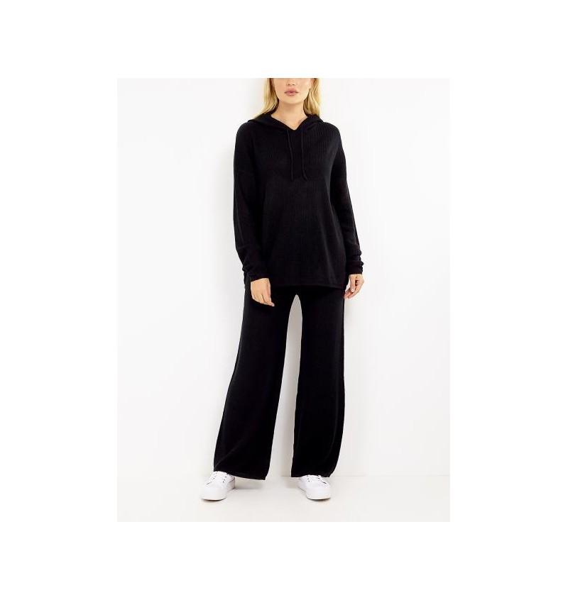 Ensemble Noir Pour Femme Tricoté Pull + Pantalon LSET-555HEIDIC - BRAVE SOUL
