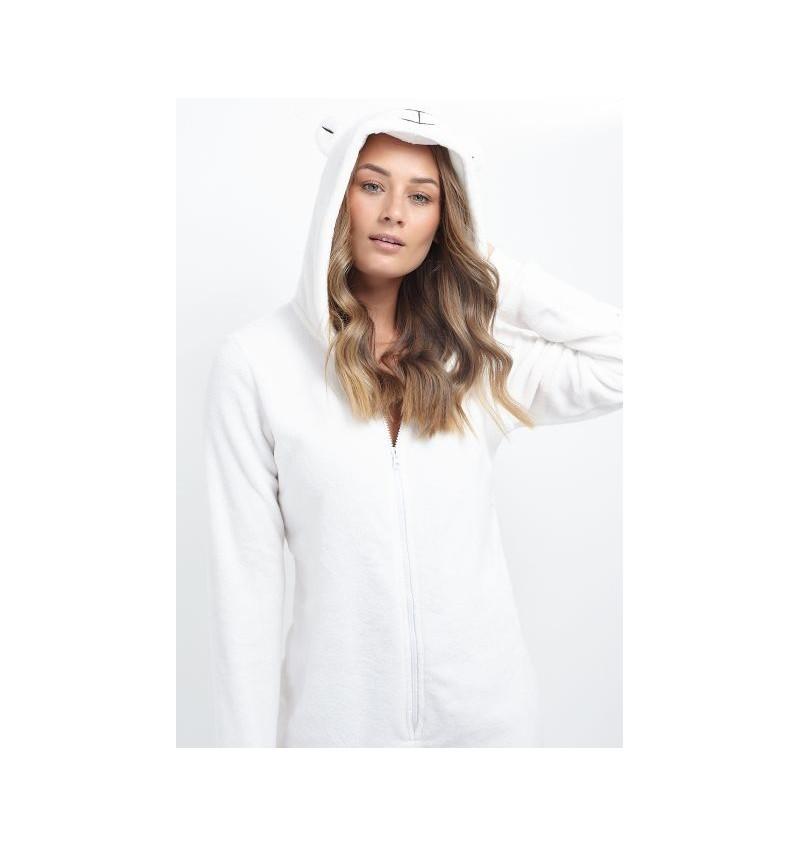 Combinaison Animal Ours Blanc Pour Femme LON-463POLARBEAR - BRAVE SOUL
