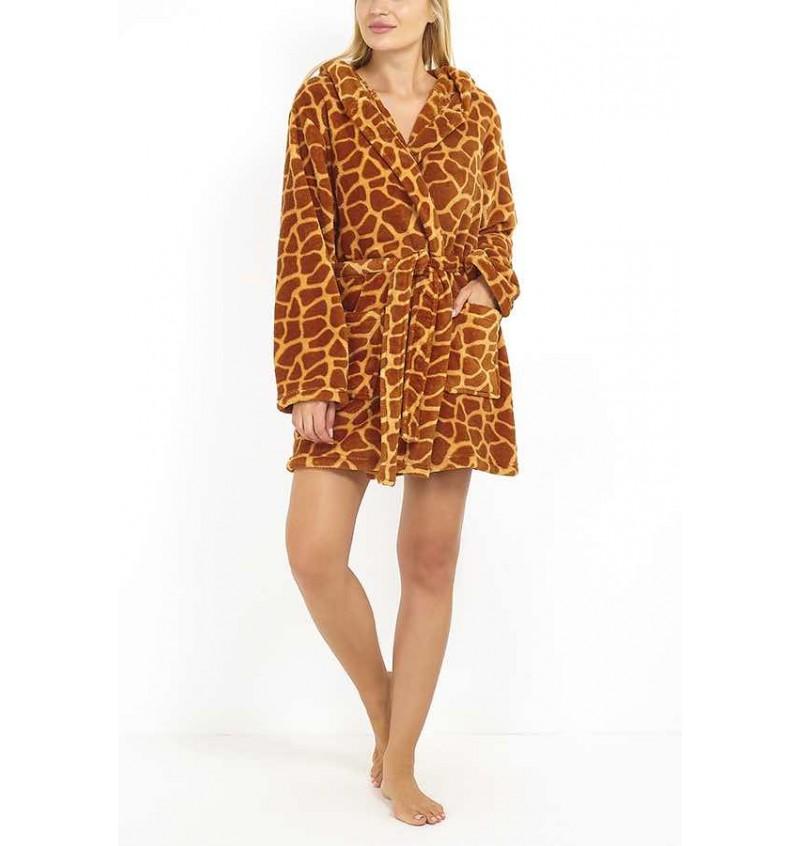 Peignoir Animal Girafe Pour Femme LDG-463GIRAFFE - BRAVE SOUL