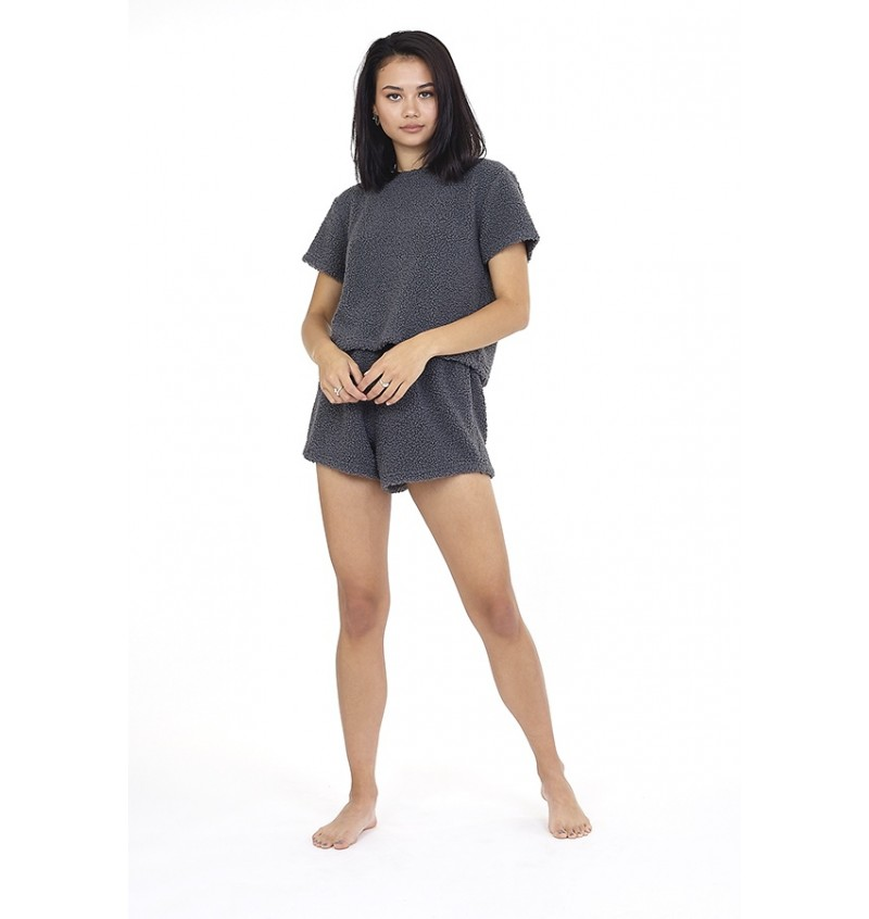 Ensemble Soft Borg Short + Tee-shirt MC Pour Femme LPJ-533BECCA - BRAVE SOUL
