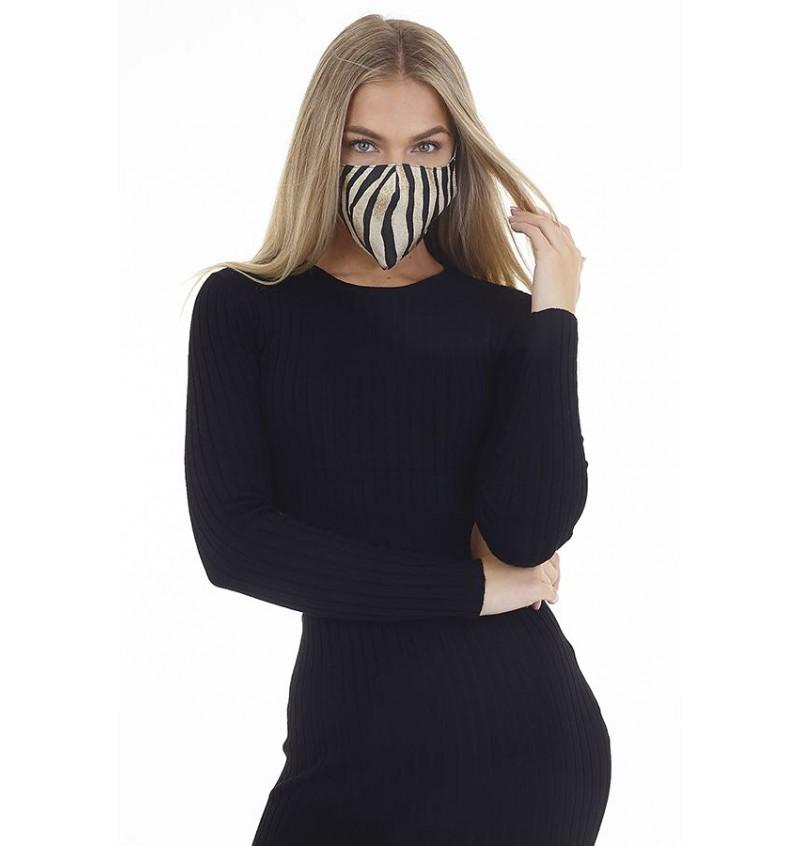Masque Protection Femme Imprimé Tigre LMSK-272TIGER - BRAVE SOUL