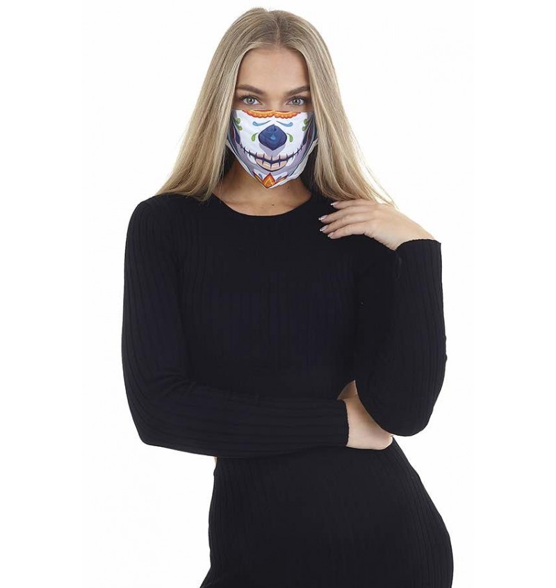 Masque Protection Femme Imprimé Arlequin LMSK-272DIA - BRAVE SOUL