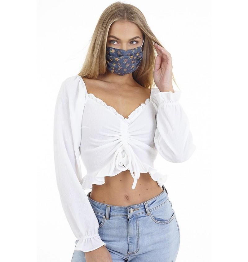 Masque Protection Femme Imprimé Liberty  LMSK-272DITSYB- BRAVE SOUL