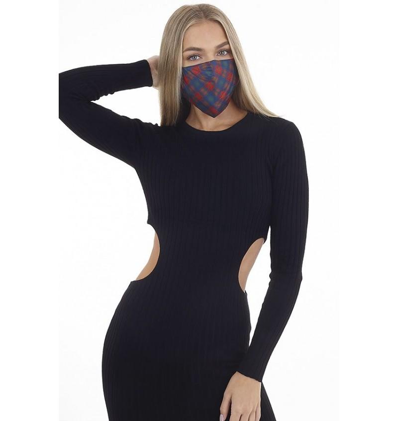 Masque Protection Femme Imprimé Carreaux LMSK-272TARTAN- BRAVE SOUL