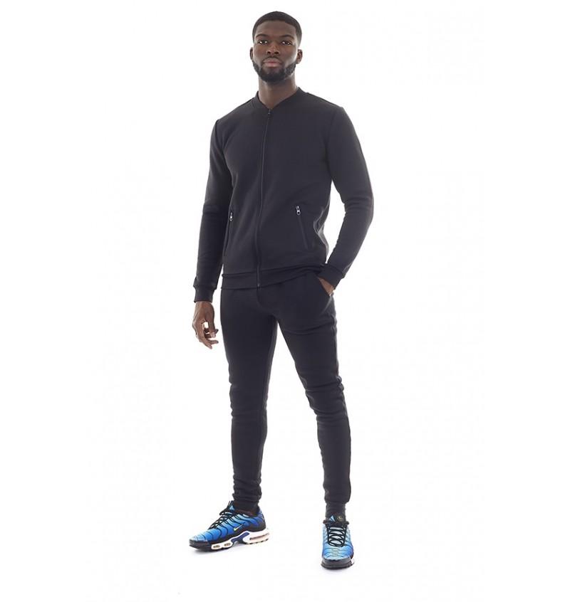 Ensemble Jogging Pantalon + Gilet  Slim fit Noir Pour Homme MJS-516GREYJOY - BRAVE SOUL