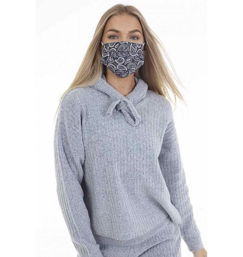 Masque Protection Femme Imprimé Bandana Noir LMSK-272BANDBLK - BRAVE SOUL