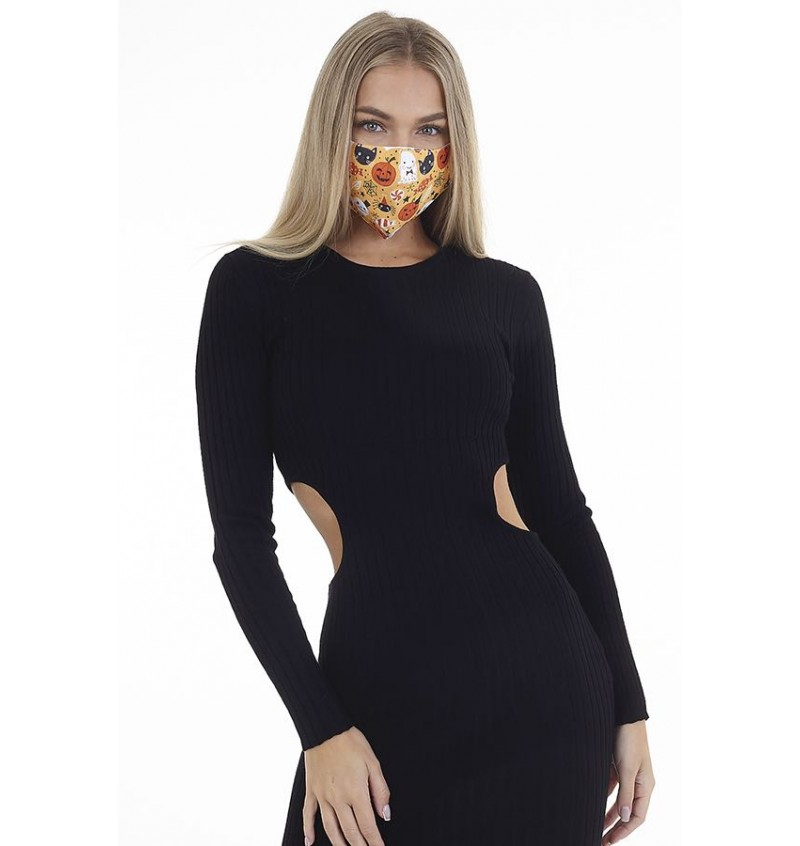 Masque Protection Femme Imprimé Halloween LMSK-272HALLOW - BRAVE SOUL