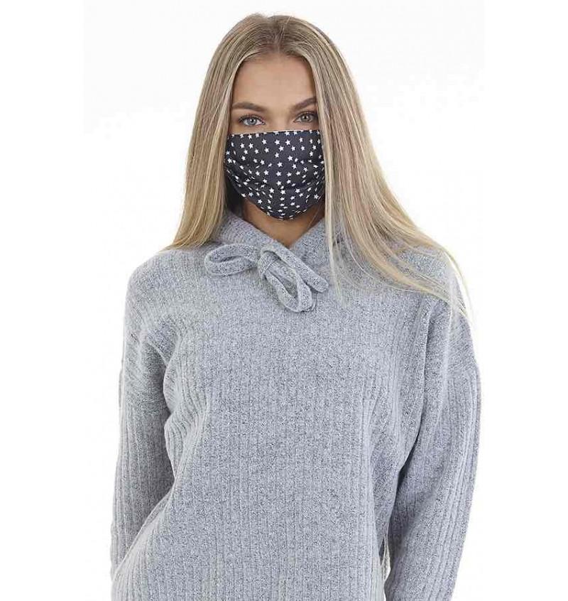 Masque Protection Femme Imprimé Etoiles LMSK-272SONNYB - BRAVE SOUL