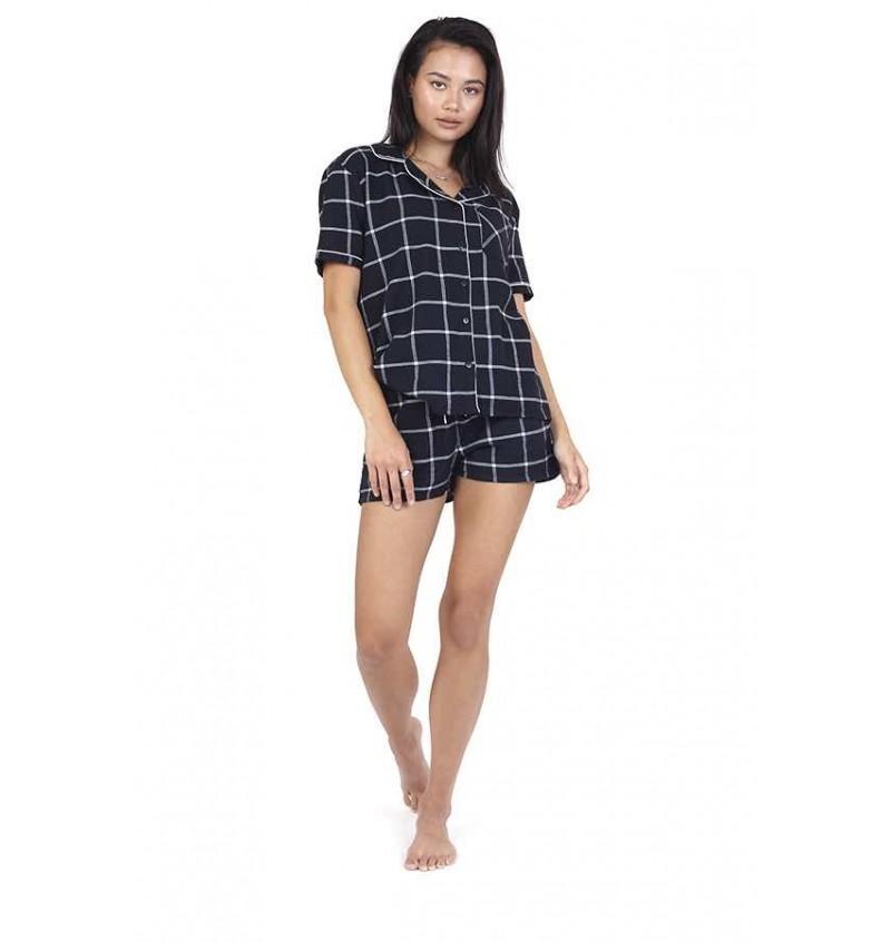 Ensemble Pyjama Femme En Coton Imprimé Carreaux LPJ-505GRID - BRAVE SOUL