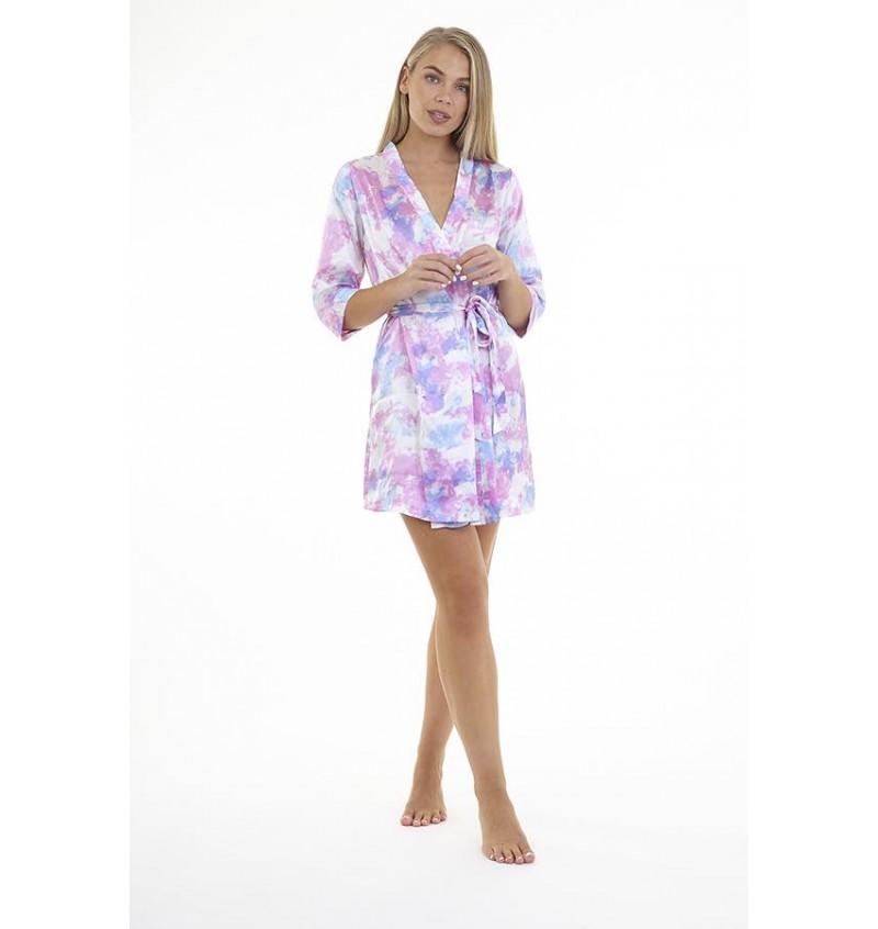 Kimono Femme En Satin Imprimé Tie&Dye LDG-548TEEGAN - BRAVE SOUL
